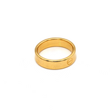 Real Gold CR Plain Ring (SIZE 7) R1514