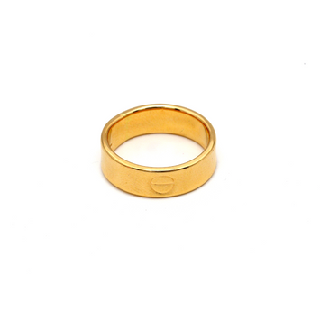 Real Gold CR Plain H Ring (SIZE 7) R1518
