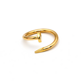 Real Gold CR Nail Plain Ring (SIZE 7) R1521