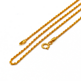 Real Gold New Clamp Rope Chain (45 C.M)