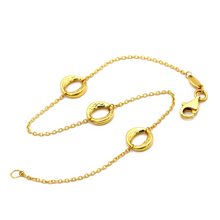 Real Gold 3 Round Bracelet 1911 BR1236 - 18K Gold Jewelry