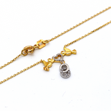 Real Gold Bird Heart Necklace N1181