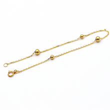 Real Gold 4 Ball Seed Bracelet 6124 BR1238 - 18K Gold Jewelry