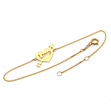 Real Gold Love Bracelet 1501 Adjustable Size BR1239