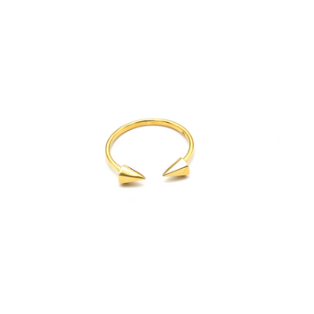 Real Gold Sharp Arrow Gold Ring (SIZE 6.5) R1535