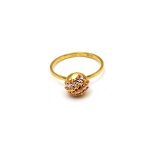 Real Gold 3 Color Round Gold Ring (SIZE 7) R1538 - 18K Gold Jewelry