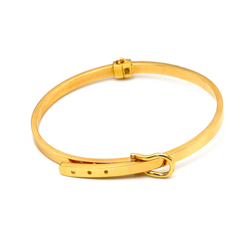 Real Gold CR Belt Plain Bangle (SIZE 15.5) BA1193