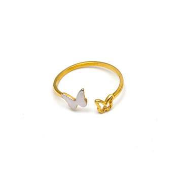 Real Gold 2 Color Butterfly Ring 6455 (SIZE 6.5) R1543