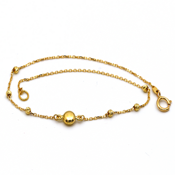 Real Gold Button Seed Bracelet 0208 BR1240