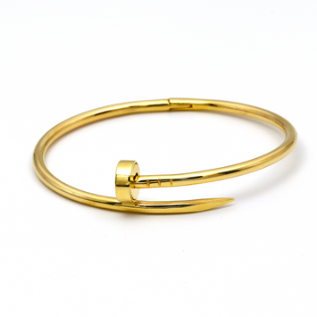 Real Gold CR Nail Bangle (SIZE 16) BA1194