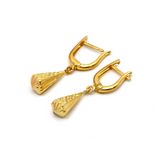 Real Gold 3D Hanging Drop Earring Set E1570