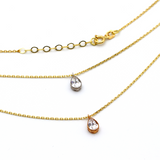 Real Gold Drop Double Layer Necklace N1189