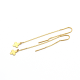 Real Gold LV Hanging Earring Set E1574