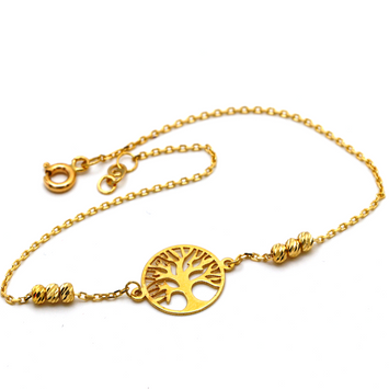 Real Gold Ball Tree Bracelet 994 BR1246