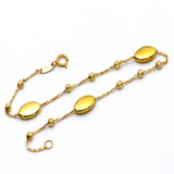 Real Gold Oval Seed Ball Bracelet 4210 BR1248
