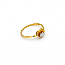 Real Gold 2 Color 2 Heart Ring (SIZE 7) R1549 - 18K Gold Jewelry