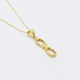 Real Gold Infinity Necklace 2020 - 18K Gold Jewelry