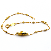 Real Gold Seed Bracelet 4021 BR1255 - 18K Gold Jewelry