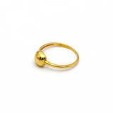 Real Gold Plain Square Ring 6280 (SIZE 7) R1550