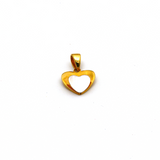 Real Gold 2 Color Heart Pendant 2865