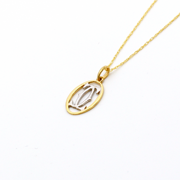 Real Gold 2C C H Necklace CWP 1608 - 18K Gold Jewelry