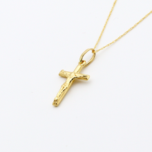 Real Gold 3D Cross Necklace 2020 - 18K Gold Jewelry