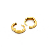 Real Gold Texture Round Earring Set E1579