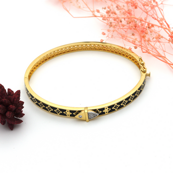 Real Gold Bangle GZBL 24 - 18K Gold Jewelry