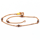 Real Gold Stone Rose Gold Bracelet 4462 BR1268