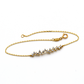 Real Gold Heart Beat Bracelet 0979 BR1272