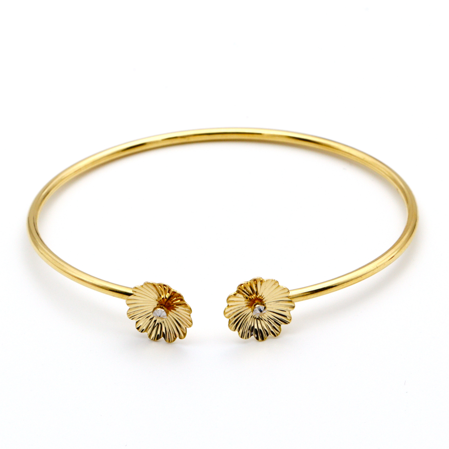 Real Gold Sunflower Bangle