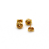 Real Gold 3D Twisted Earring Set 9679 E1580