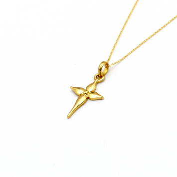 Real Gold Cross Sign Necklace - 18K Gold Jewelry