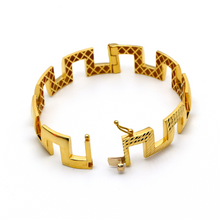Real Gold Maze Hoop Bangle (SIZE 17) BA1198 - 18K Gold Jewelry