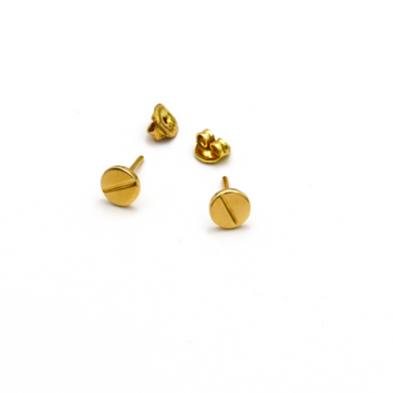 Real Gold CR Earring Set 2020-A - 18K Gold Jewelry