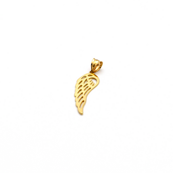 Real Gold Wing Pendant 066