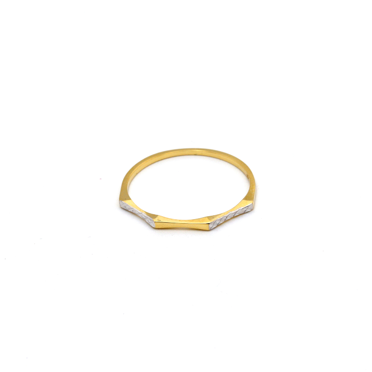 Real Gold 2 Color Plain Ring (SIZE 7.5) R1562