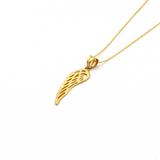 Real Gold Wing Necklace 066