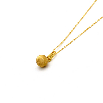 Real Gold Small Round Silk Necklace CWP 1610 - 18K Gold Jewelry
