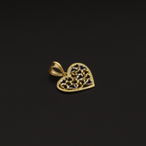Real Gold 2C Heart Design Pendant - 18K Gold Jewelry