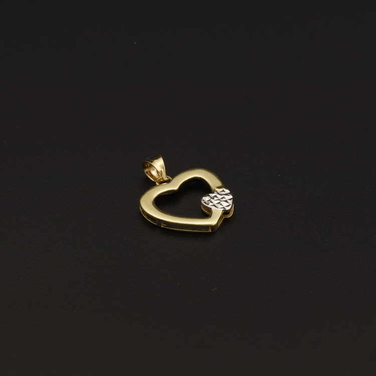 Real Gold 2C Heart Pendant