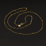 Real Gold 2 Ball in 1 Inch Chain (50 C.M)