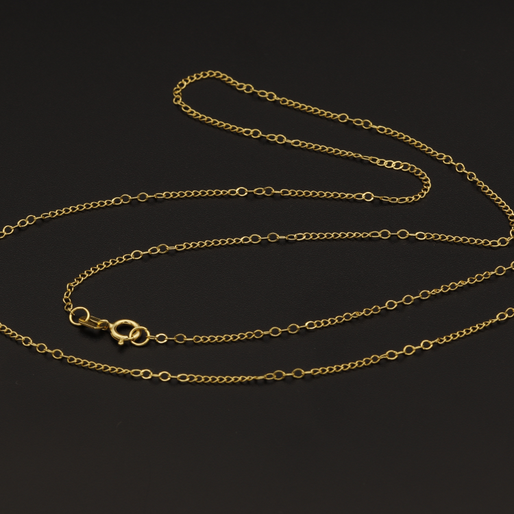 Real Gold Chain GZT (50 C.M) - 18K Gold Jewelry