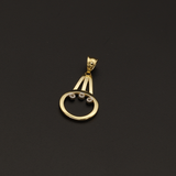 Real Gold 3 Stone Pendant