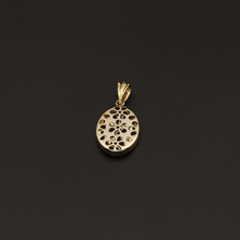 Real Gold 2 Side Flower Box Pendant - 18K Gold Jewelry