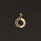 Real Gold 2C MH Oval 1 Side Pendant - 18K Gold Jewelry