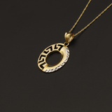 Real Gold 2C MH Oval 1 Side Necklace