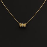 Real Gold Grill Roller Necklace