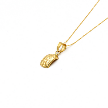 Real Gold Curved Necklace 2020 CWP 1611 - 18K Gold Jewelry