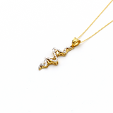 Real Gold 2 Color Necklace 179 - 18K Gold Jewelry